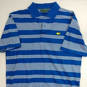 Men's m Bobby Jones masters Pima blue polo shirt